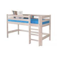 Низкая кровать Соня с прямой лестницей (Вариант 11)