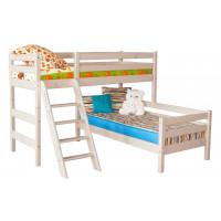 Угловая кровать Соня с наклонной лестницей (Вариант 8)