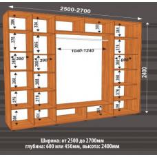 Шкаф-купе ширина 2500