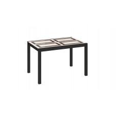 Диез Т4 Стол со стеклом кухонный раскладной С-345