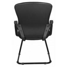 Кресло Бюрократ CH-818-Low-V  низкая спинка черный  (полозья)