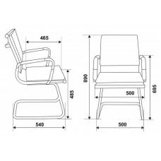 Кресло Бюрократ CH-993-Low-V  хром