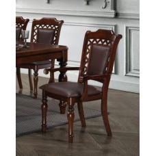 Кресло MK-4521-LW CHARLIZE цвет: Light Walnut - с мягким сиденьем и спинкой (по 2 шт./1 кор.)