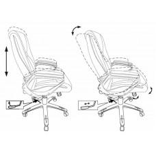 Кресло руководителя Бюрократ CH-875C  мокко искусственная кожа (пластик медный)