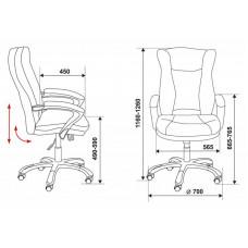 Кресло руководителя Бюрократ CH-879DG искусственная кожа (пластик темно-серый)
