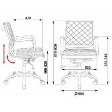 Кресло руководителя Бюрократ CH-991-Low  искусственная кожа крестовина хром