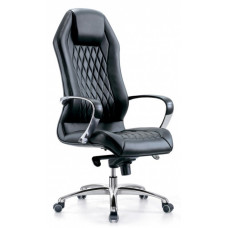 Кресло руководителя Бюрократ AURA кожа крестовина алюминий