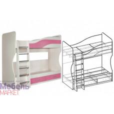 Кровать 2-х этажная Корпус Дуб молочный Симба