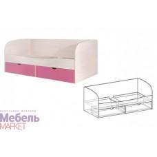 Кровать с ящиками Корпус Дуб молочный Симба