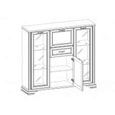 Шкаф с витриной MONAKO 2V2D1S