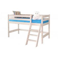 Низкая кровать Соня с наклонной лестницей (Вариант 12)