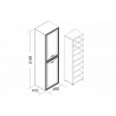Пенал Николь (1 фасад глухой, 1 фасад со стеклом)