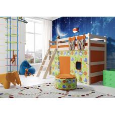 Полувысокая кровать Соня с наклонной лестницей (Вариант 6)
