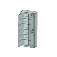 Шкаф-витрина OSKAR 2V2D