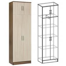Шкаф 2-х дверный комбинированный Машенька