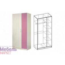 Шкаф 2-х створчатый корпус Дуб молочный Симба