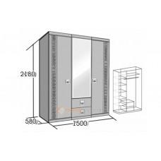 Шкаф 3-х дверный София