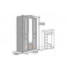 Шкаф 3-х дверный Верона