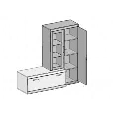 Шкаф ДЮНА - витрина 1V1D L-P