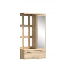 Шкаф ДЮНА с зеркалом и вешал. L-P