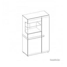 Шкаф LINATE с витриной 3D-1S / TYP 32
