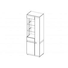 Шкаф LINATE с витриной 3D / TYP 01L