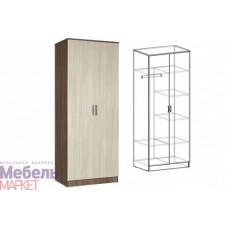 Шкаф распашной 2-х створчатый комбинированный без зеркал Светлана
