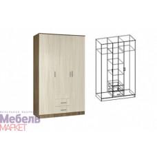 Шкаф распашной 3-х створчатый комбинированный без зеркала Светлана