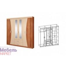 Шкаф распашной 6-ти дверный с 2 зеркалами Догма
