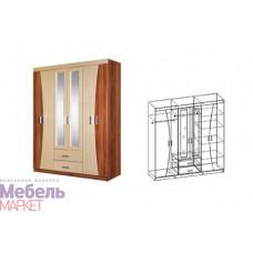 Шкаф распашной 6-ти дверный с 2 зеркалами МАЛЫЙ Догма