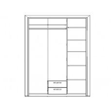 Шкафа ОЛИВИЯ 3D2S без зеркала