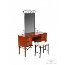Туалетный столик с банкеткой 1104-АМ-DT. Цвет: Rose Oak (Темная вишня)