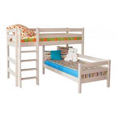 Угловая кровать Соня с прямой лестницей (Вариант 7)