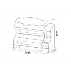 Акварель 1 Кровать двухъярусная