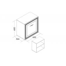 Шкаф навесной (фасад стеклянный)