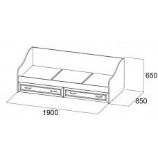 Вега ДМ-09 Кровать без матраца 0,8*1,86