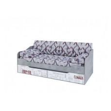 Грей Кровать-диван с ящиками 0,9*2,0