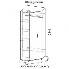 Шкаф угловой Визит 1