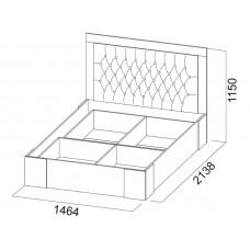 Лагуна-6 Кровать двойная(универсальная) 1,4*2,0м