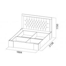 Лагуна-6 Кровать двойная (универсальная) 1,6*2,0м