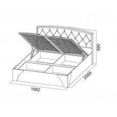 Кровать Лагуна 7  1,6*2,0