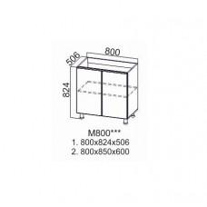 Стол-рабочий 800 (под мойку) М800