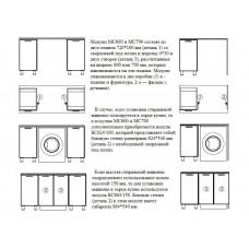 БС874/150 боковая стенка для стиральной машины БС874/150